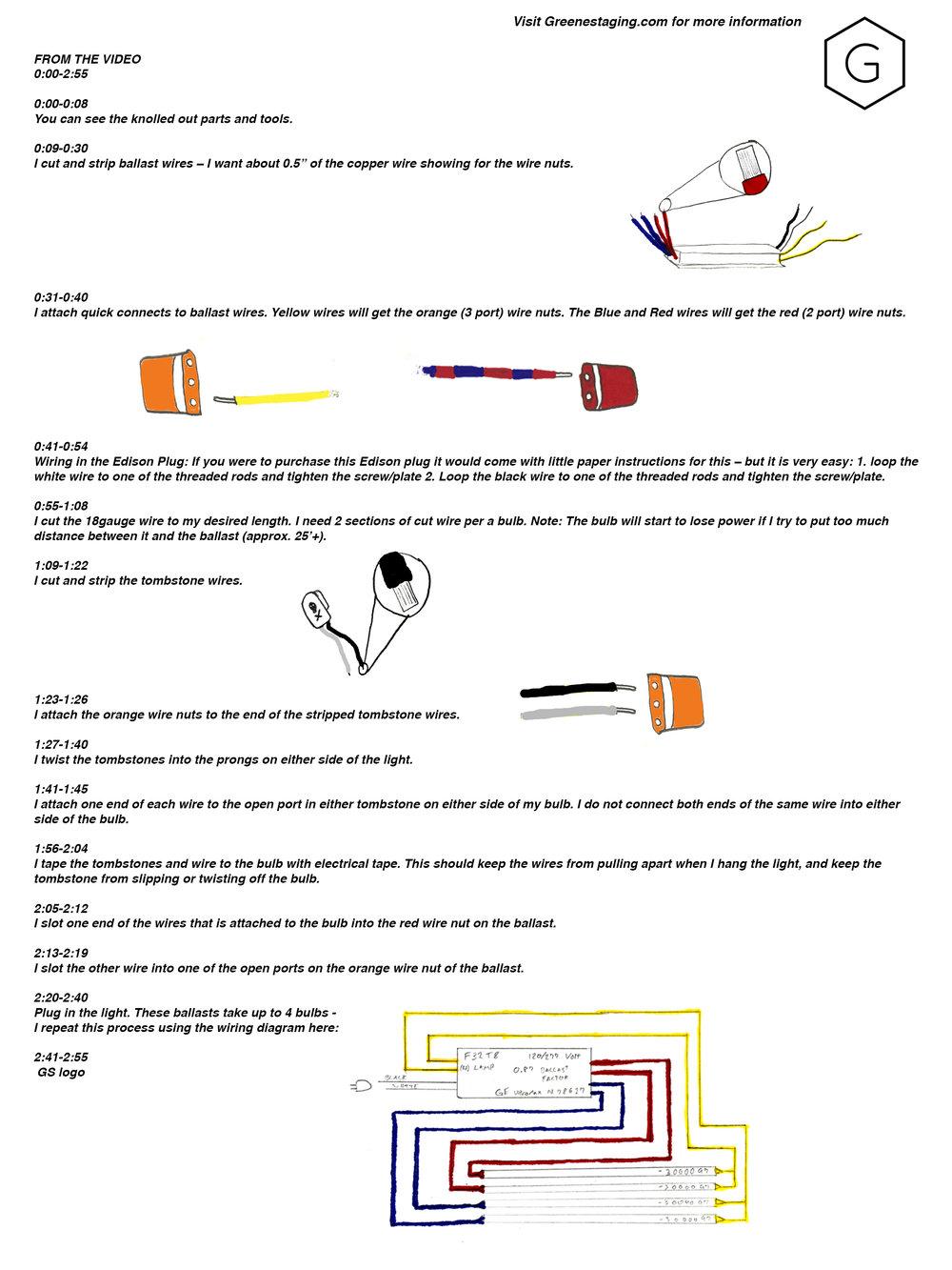 Fluorescent Bulb Process Haciendo Collective 4 Light Ballast Wiring Diagram Parallel Description