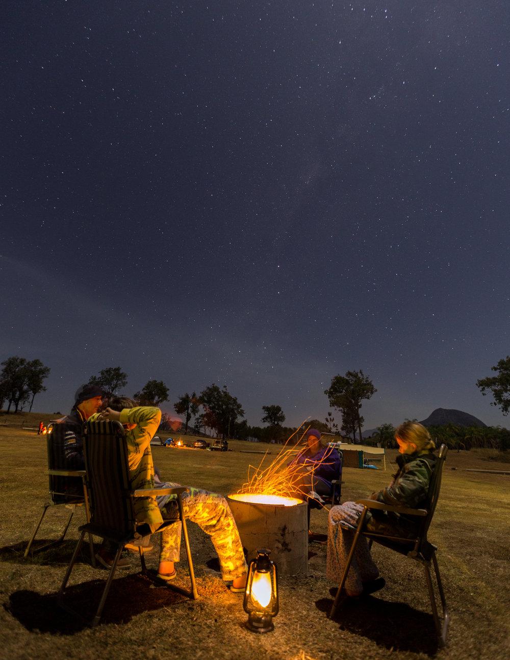 First night around the campfire