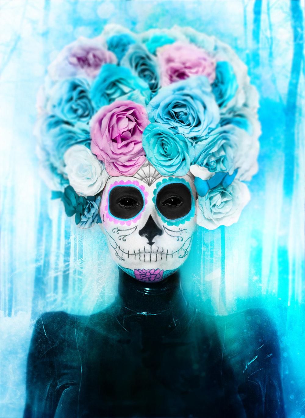 LA NIEVE REINA DE LOS MUERTOS    Translation: Snow Queen Of The Dead    Photography & Art Direction  -  BRYAN BARNES   Model  - A •  Makeup  - KIM MYERS •  Haute Rose Headwear  - Caley Johnson    BBKUNST.com