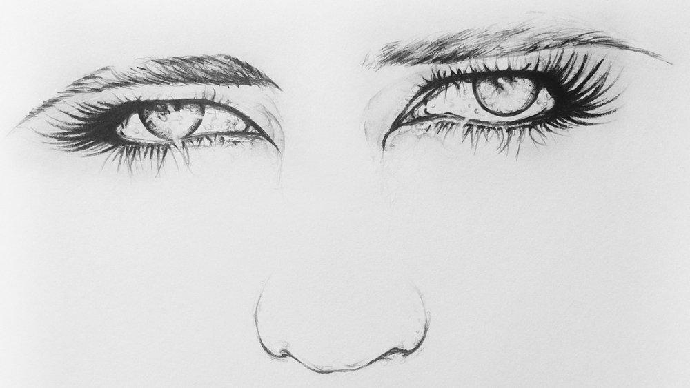 Eva Green Eyes Pencil art by Bryan Barnes