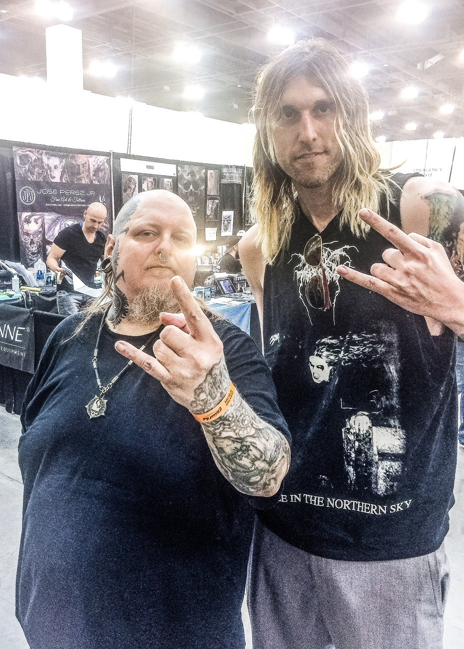 Master Tattoo Artist + NYC Last Rites Gallery Owner Paul Booth and Artist + Dark Fashion Photographer Bryan Barnes,  Golden State Tattoo Expo - Pasadena, CA January 2016