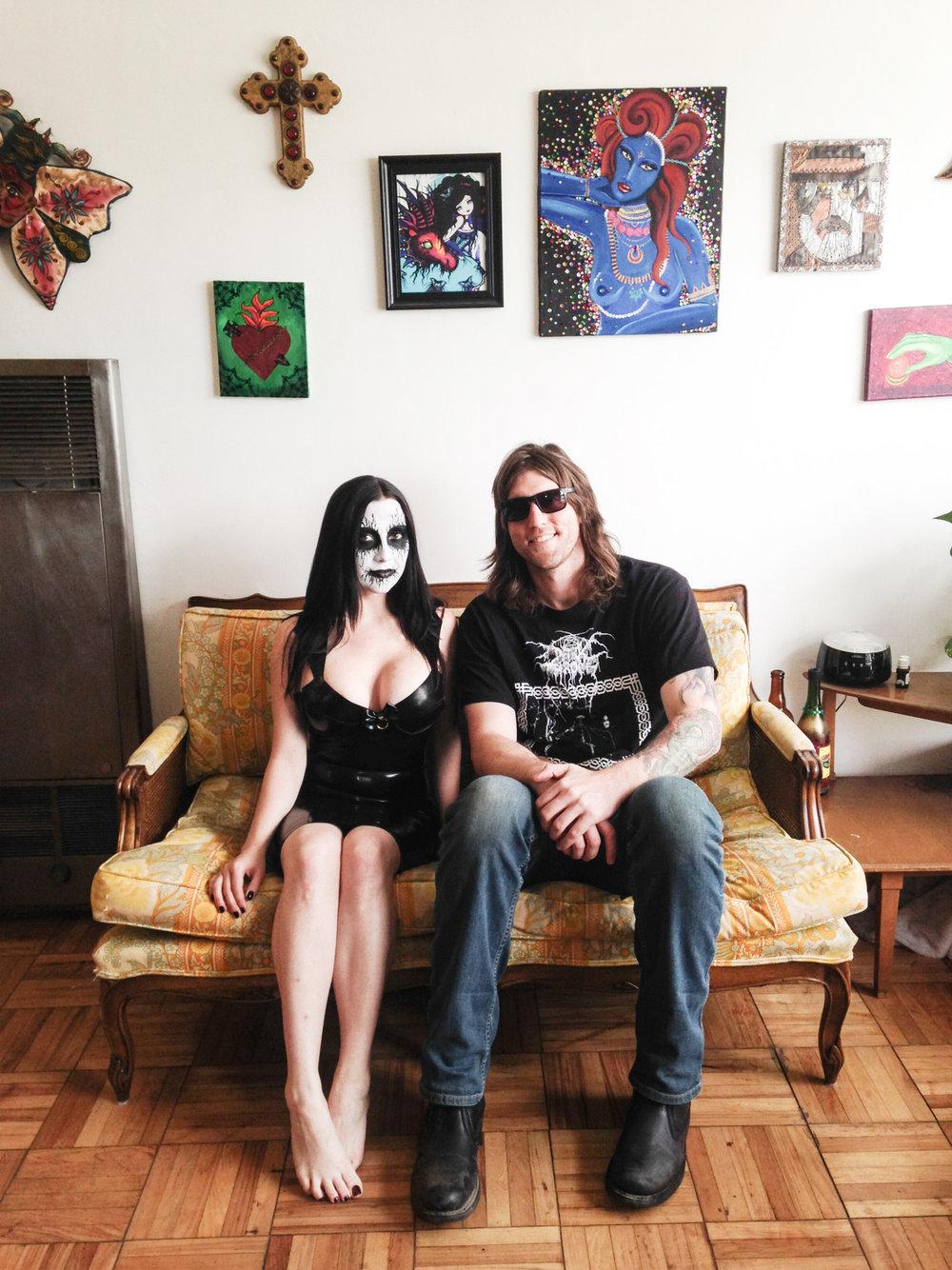 Art Director / Fashion Photographer Bryan Barnes with model Amanda.  Shot in Los Angeles, April 2014.
