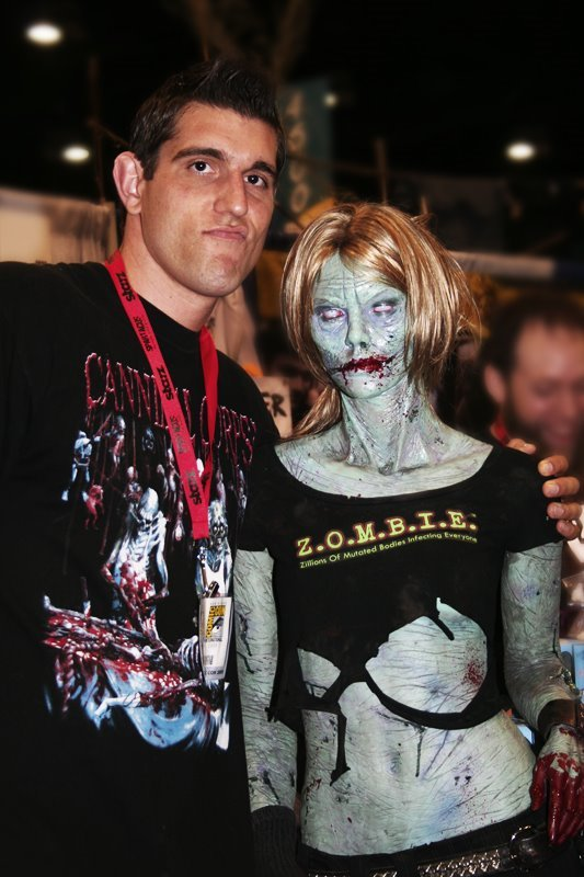Myself and Zombie Girl at ComicCon 2009! © Bryan Barnes  www.bryan-barnes.com  #artists on tumblr #throwbackthursday #tbt #zombie