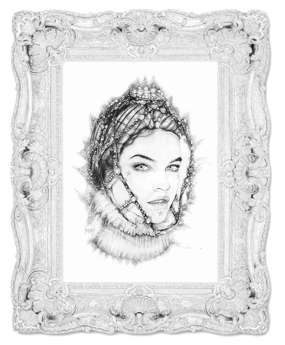 BBKUNST-Art-Artist-Bryan-Barnes-Pencil-Art-Drawing_Barbara_Palvin_Hungarian_Princess_Under_An_Aquarius_Moon_Frame.jpg