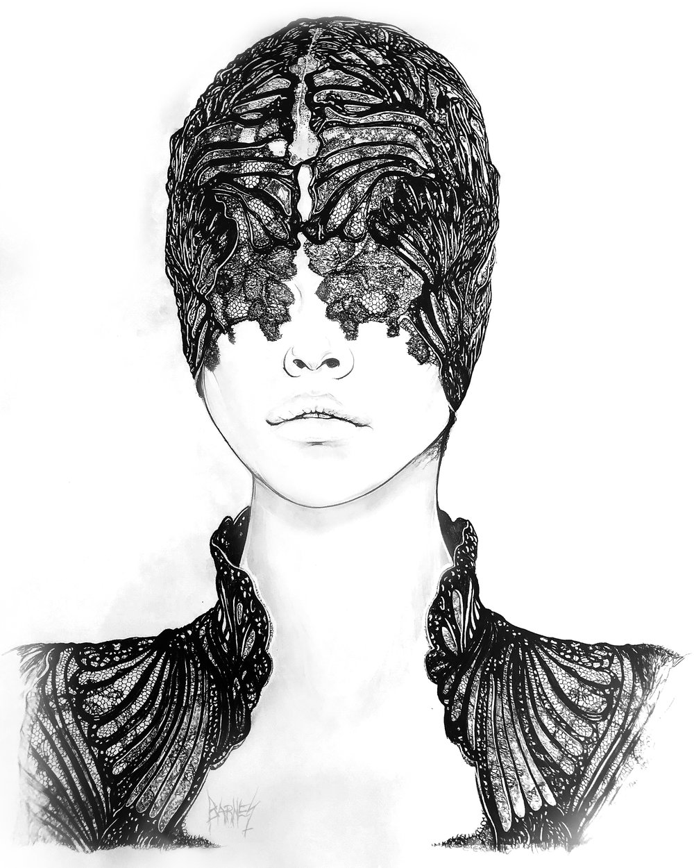 BBKUNST-BRYAN-BARNES-Art-Artist-hyper-realistic-Pencil-dark-art-beautiful-Drawings-Art_Alexander_McQueen_Spring-Ready-To-Wear_2012-Black_Mask_Barbara_Palvin_BLACKOUT-BEAUTY_2-Final.jpg