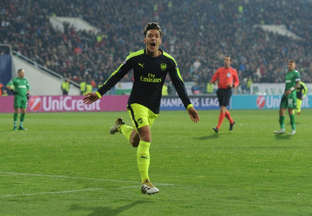 Aesthetic excellence of Ozil's goal     Ozil's goal against Ludogorets in the Champions League was a work of art.