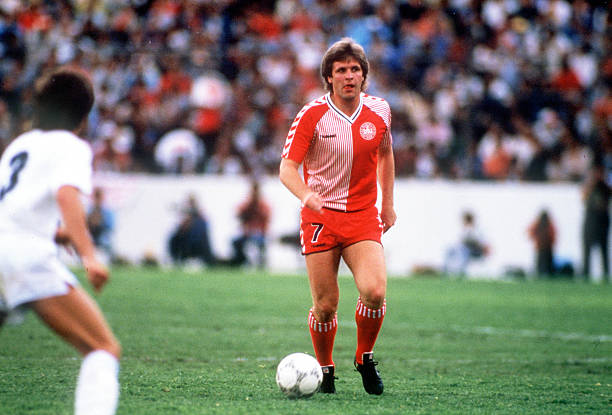 Jan Molby in the legendary Denmark kit.