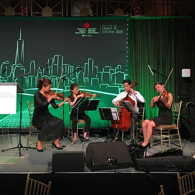 A snapshot from our soundcheck before performing for the @american_heart Heart & Stroke Ball 2017! ♥️ . . @ciprianiwallstreet  @stargrouppro #AristoStringsNYC #cipriani  #heartandstroke #americanheartassociation #health #quartet #stringquartet #classicalmusic #eventplanner #event #nycphotographer #entertainment #band #eventplannernyc #gala #fundraiser #music #musician #newyork #ny #newyorkcity #nyc