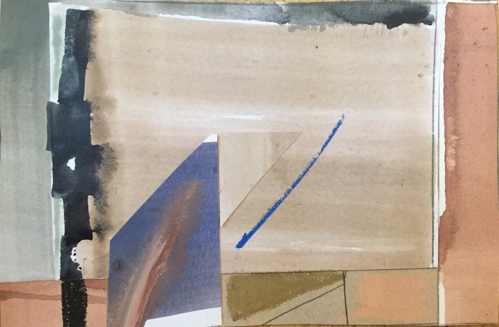 mixed media collage on paper   available