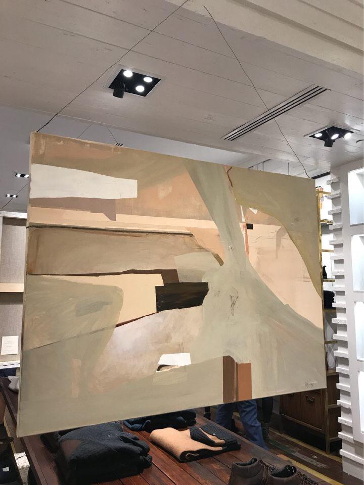 installation at Billy Reid, Atlanta, fall 2017   SOLD