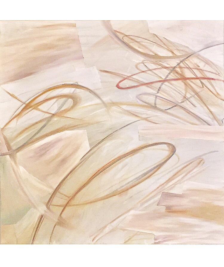 'nick miller' | 30 x 30 on canvas | acrylic, oil pastel