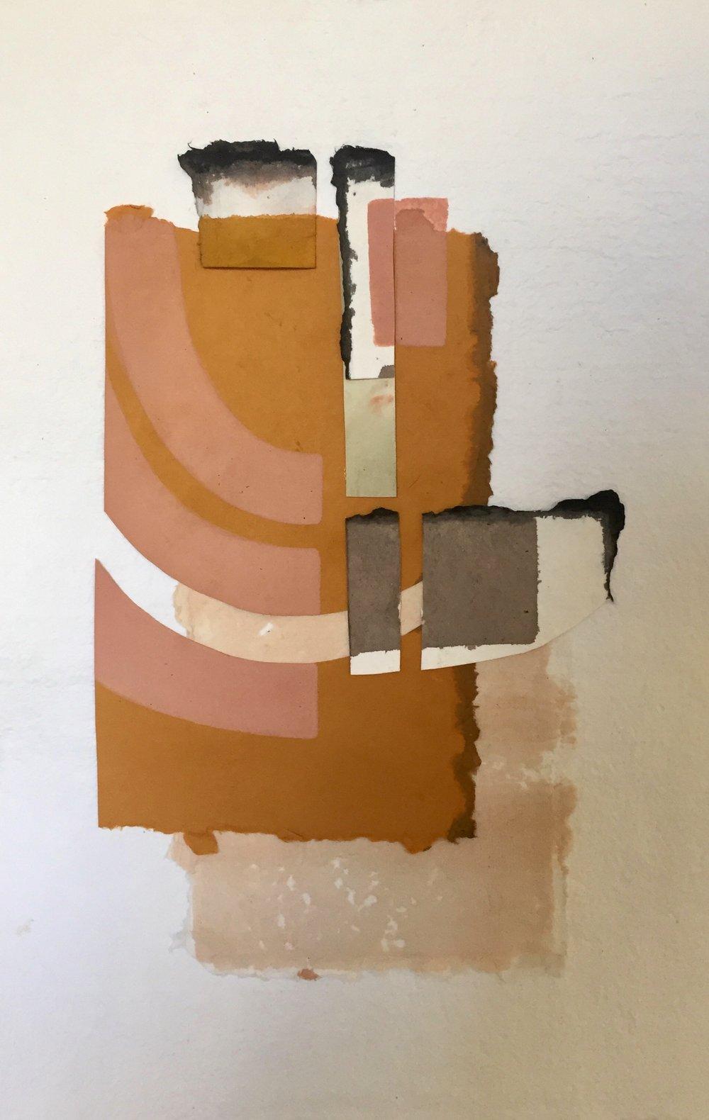 18 x 12 | 'Warm City' on deckled edge paper, custom framed | available