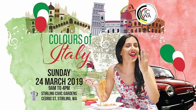 We are excited to be producing Colours of ITALY - An Italian Community Festival. So mark Sunday the 24th of March in your calendar and make your way to Stirling Civic Gardens for a day full of festivities! This event is organised and kindly supported by: @citystirlingwa ; Com.It.Es WA; Laguna Veneto Social & Bocce Club (Dianella); Sicilian Club Perth (Balcatta) ; Tuscany Association (Balcatta); asto Club Casa D'abruzzo (Balcatta). . . #Spiritevents #coloursofitaly #italianfestival #perthitalianfestival #cityofstirling #stirling #whatsonperth #eatdrinkperth #pertheventmanagement #pertheventmanager