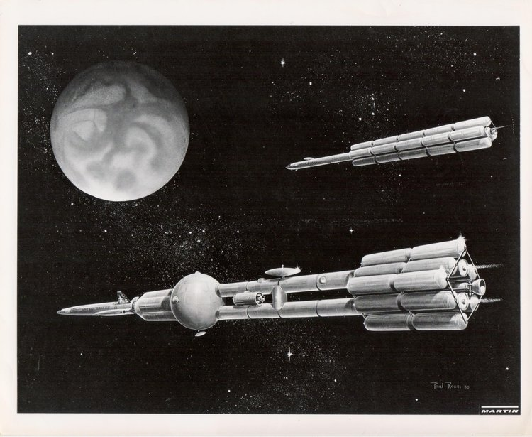 Paul Rossi Illustrator S Design For A Rocket And Spacecraft To Mars