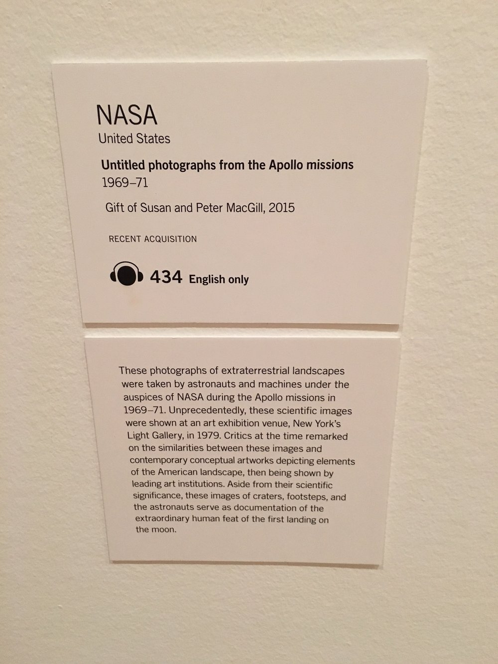 Display Caption, MoMA, New York (2016)