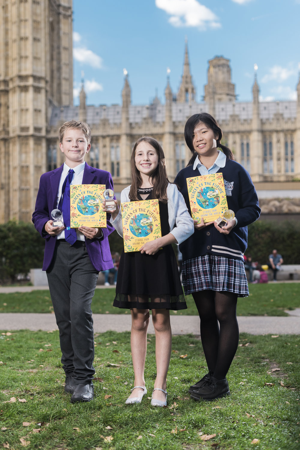 Jona David, Andrea Wilson and Ying-Xuan, Child Authors at The House of Lords, London