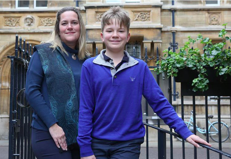 Award winning child author, Jona David, 13, picture with his mum, Prof. Marie-Claire Cordonier Segger..Pic - Richard Marsham.