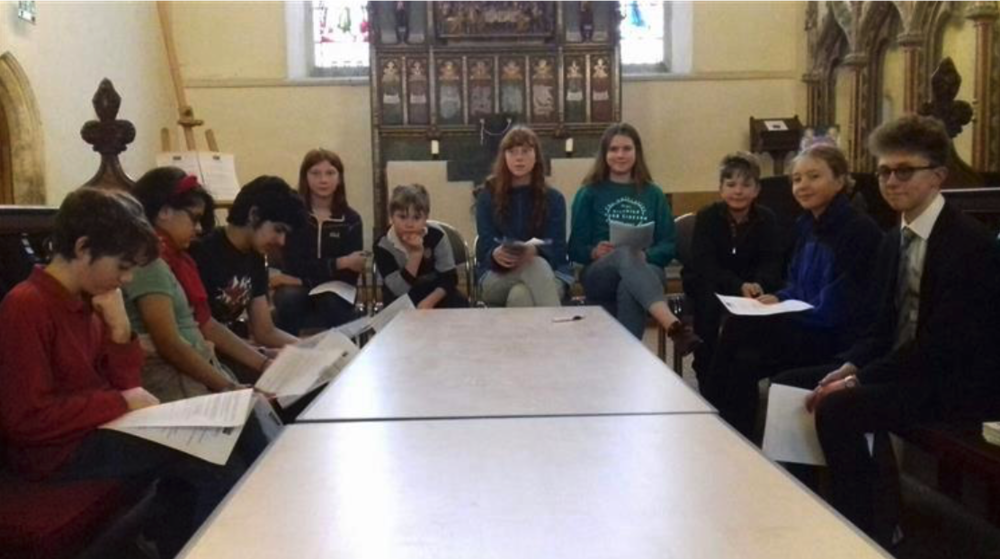 Cambridge Schools Eco-Council inaugural meeting, Michaelhouse Cafe , March 9, 2019. From left are Arthur Pledge, 12; Aarifah Islam,12; Junayd Islam, 15; Ella Hone, 11; Nico Roman, 10; Samaya Hone, 14; Helena Davis, 18; Jona David, 13; Snaedis Fridriksdottir, 14; Tommy Harris, 16. Picture: Mike Scialom