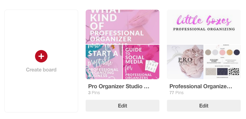 How to create custom boards for your professional organizing clients on Pinterest  |  www.proorganizerstudio.com