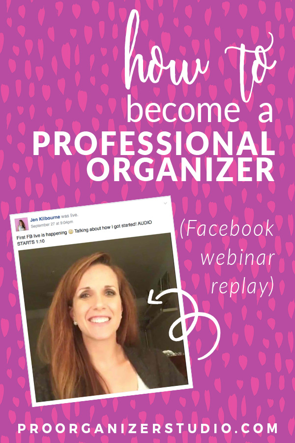 Learn how to become a professional organizer! Hear Jen's story of starting her organizing business with no money... and no plan. Just hustle.