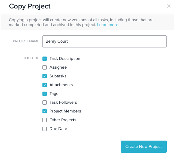 Managing professional organizing clients' projects in Asana