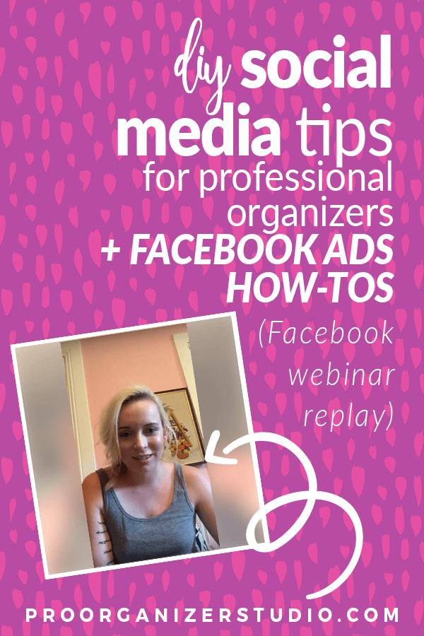 diy social media tips for professional organizers