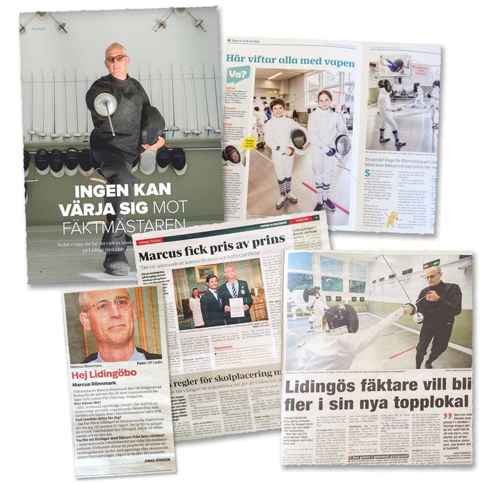 Klubbens fina utveckling har uppmärksammats av Svensk fäktning, i media och av Lidingö Stad.