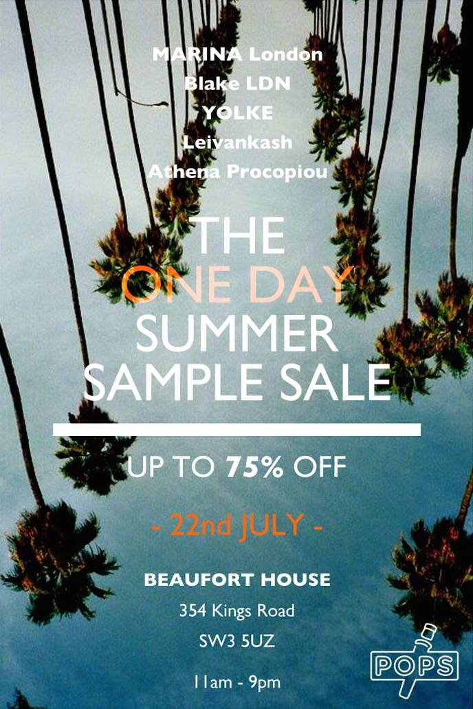 One Day Sample Sale!