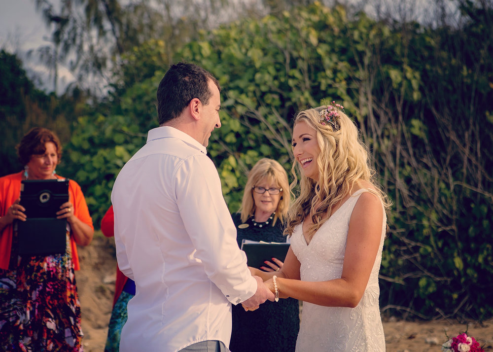 Vibrant beach wedding @ the Gables, Hervey Bay