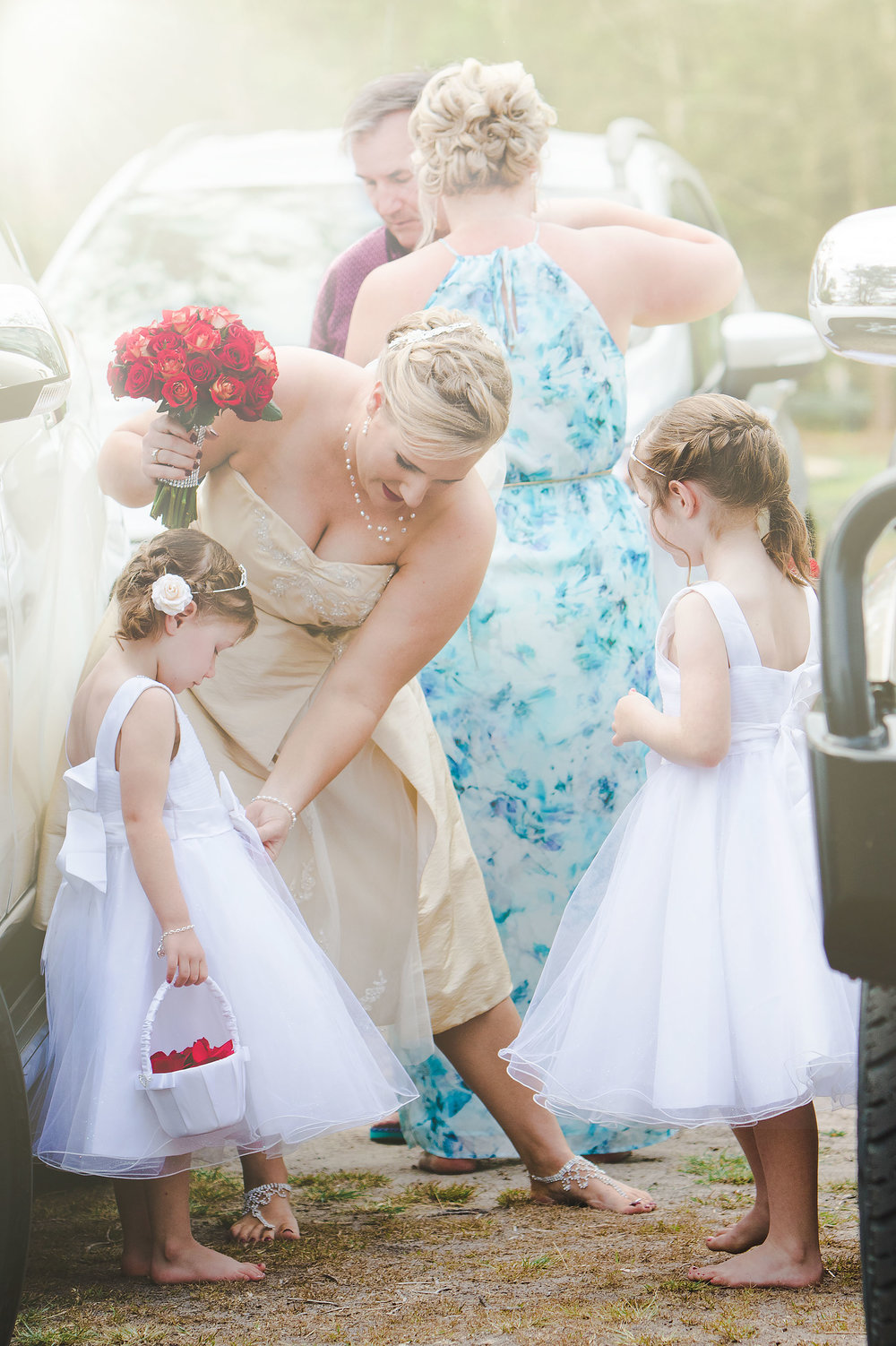Beautiful Flower Girls getting ready @ Burrum Heads, Queensland