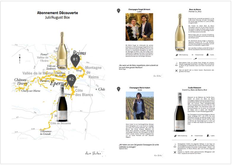 Aux Bulles Champagner Abonnement Juli Weine Decouverte