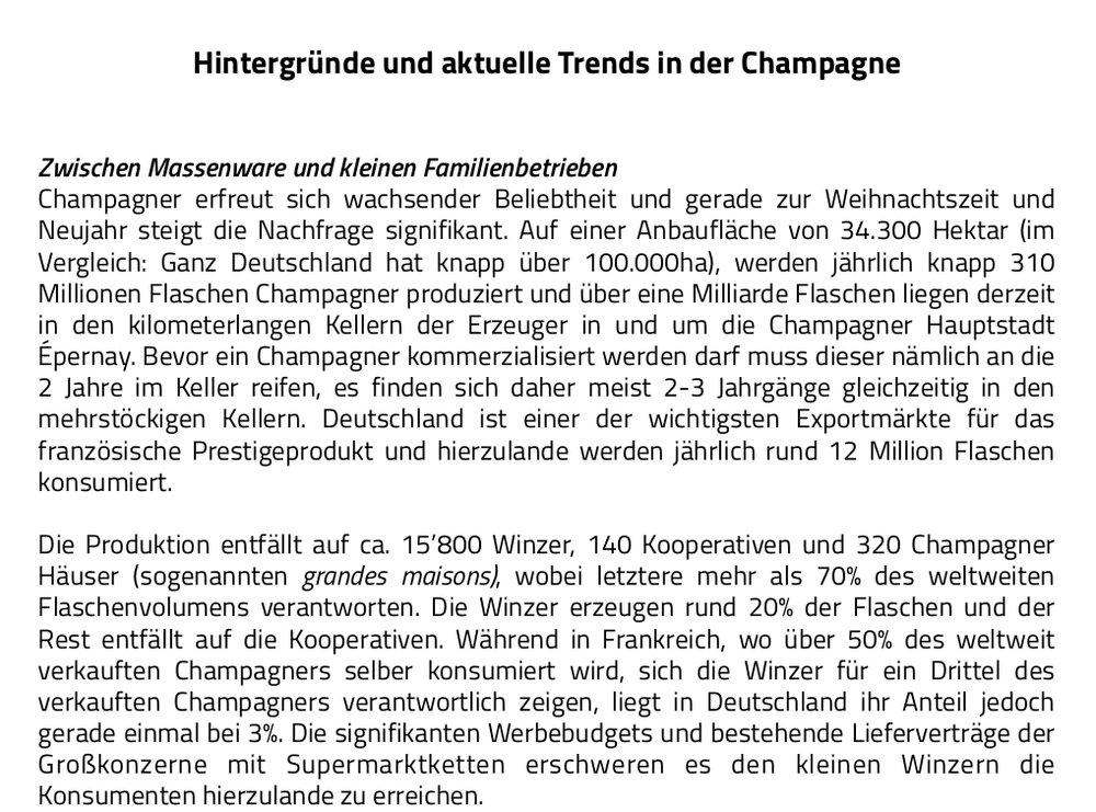 Hintergründe zu aktuellen Trends in der Champagne  (Klick auf das Bild öffnet ein PDF)