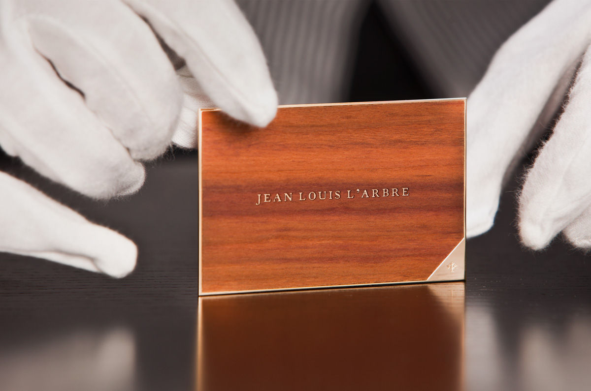 Larbre avarice marketplace premium wood amp precious metal business cards price on enquiry reheart Images
