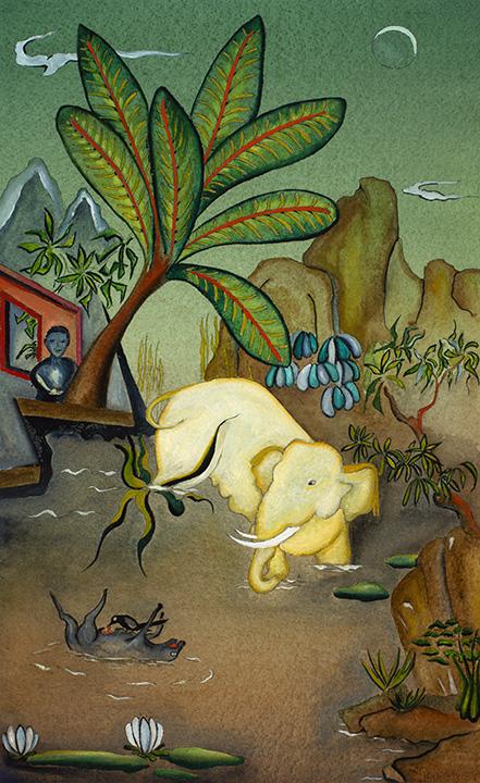 Meditation of the White Elephant