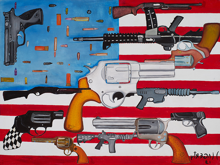 46 Flag with Guns 2013 OoP 18x24.jpg
