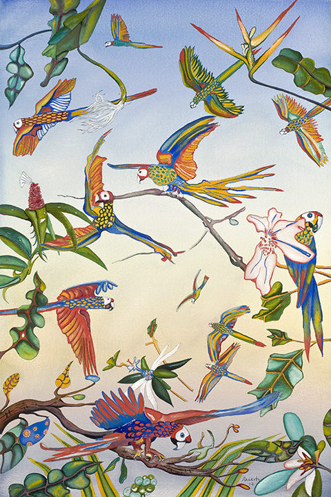 235 Parrots 2012 WoP 29x19.jpg