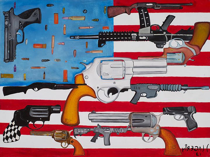 Flag with Guns