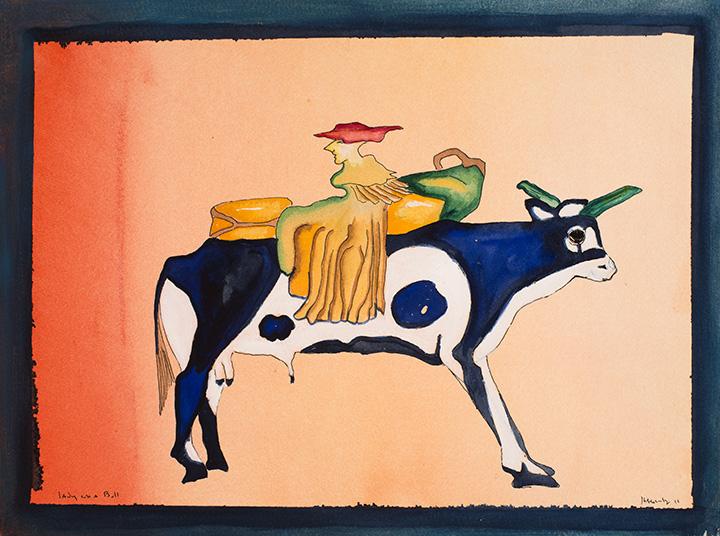 Lady on a Bull