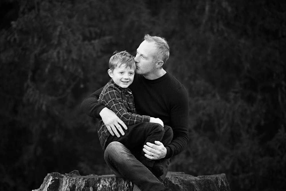 Father and Son during Family photoshoot at Castle Ashby, Northampton.