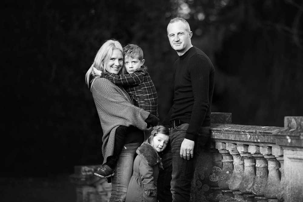 Family portrait at Castle Ashby in Northampton