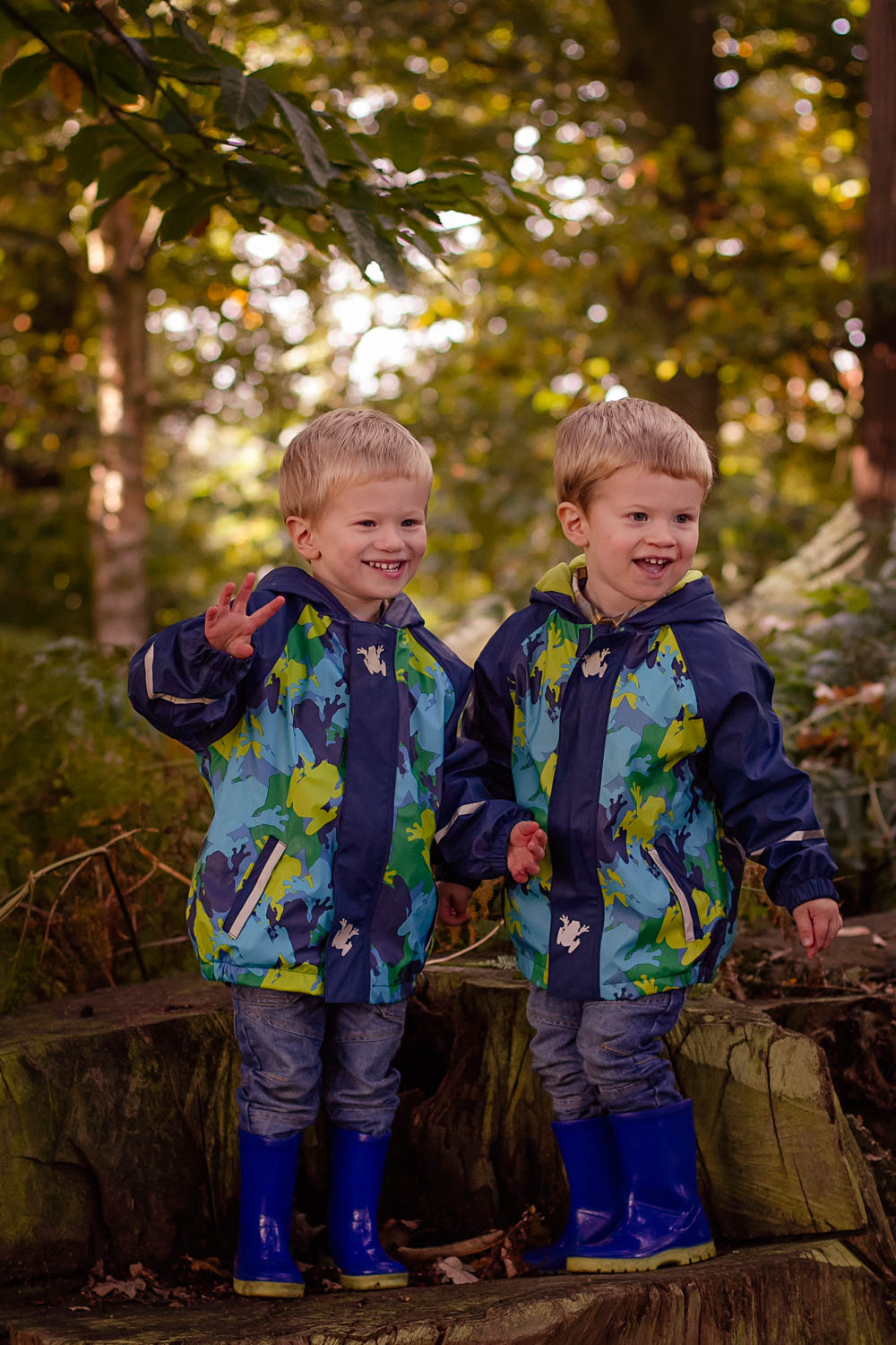 Toddler twin boys family photoshoot at Ampthill Park Bedford.