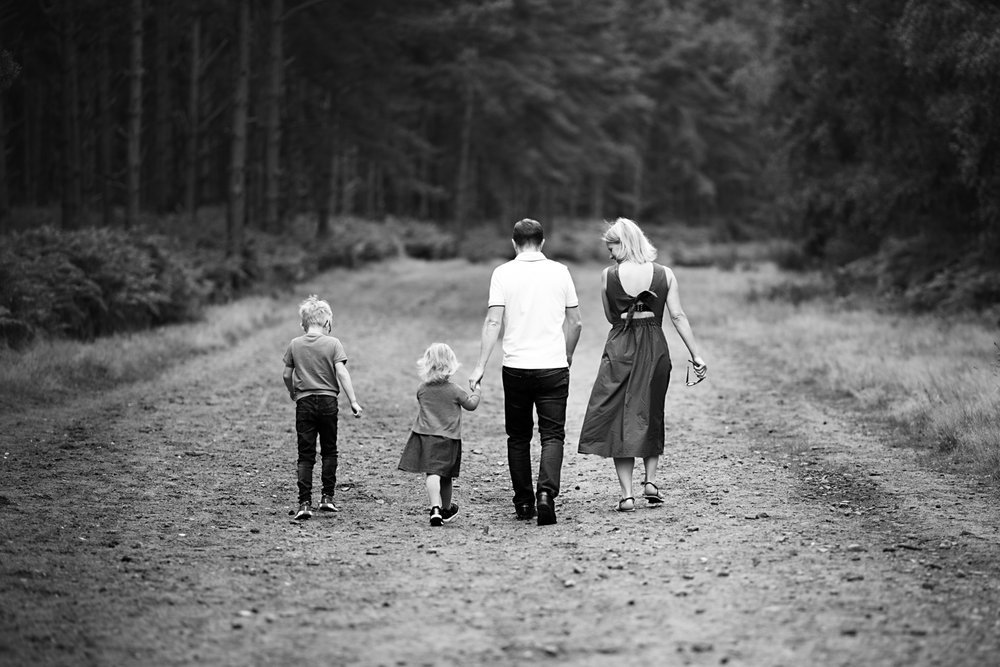 Aspley Heath Woods in Bedfordshire, Family Photoshoot