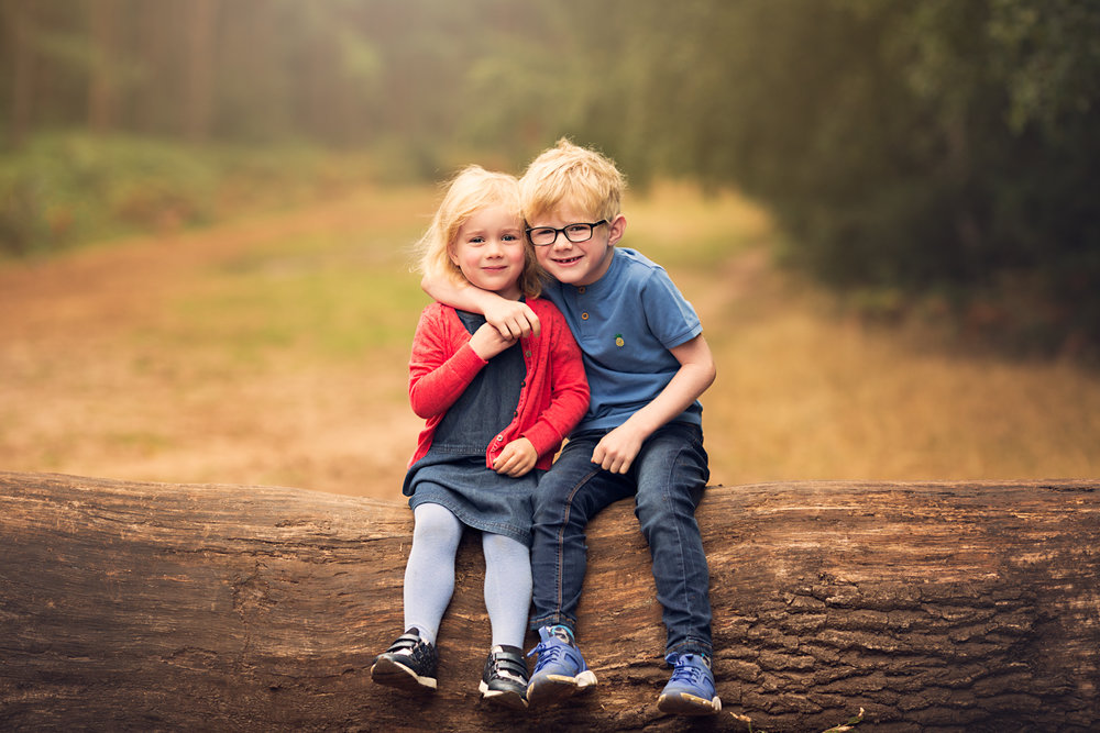Brother and Sister Portrait at Aspley Heath