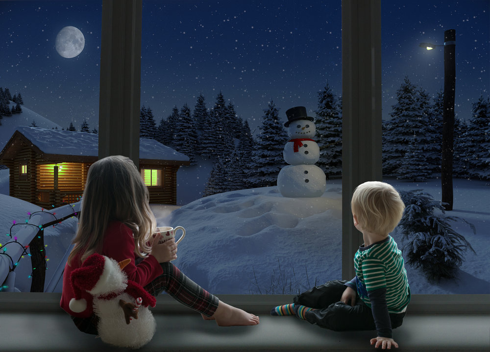 Design 1 - Snowman - New design for 2018! Suitable for up to 2 children.