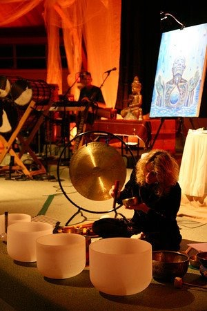 11:11 Healing Sound Journey at Alex Gray's Live Painting Event- First Unity Church, St. Pete, FL 2009