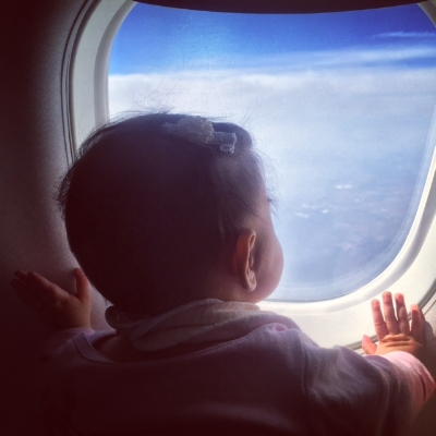 Karina has always loved the window seat.