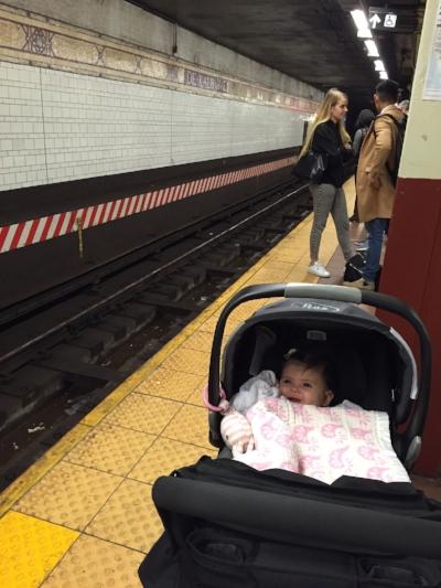 Karina's first NYC subway ride