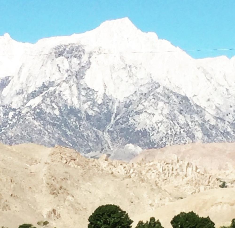 (Not) Mt. Whitney as seen from Best Western parking lot.
