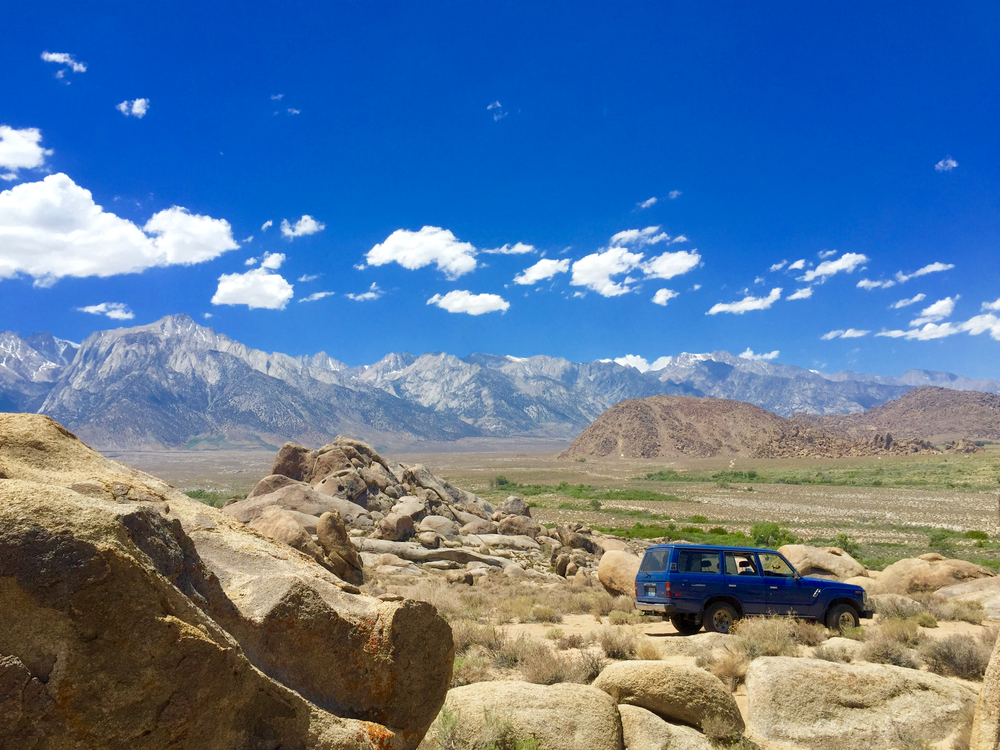 Old blue in the Alabama foothills of Mt. Whitney. Back in the day, Hollywood movies would detonate explosions in these hills for war movies.