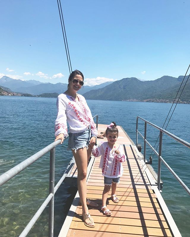 Mommy and me outfits on Lake Como?! Because, why not! This lido in #Agregno offered the perfect perch to enjoy some sun and fun. #bodenbyme #bodenbaby #lakecomobaby #heyjetsetbaby